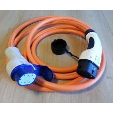 Câble Type 2 vers Type 3 triphasé 32A